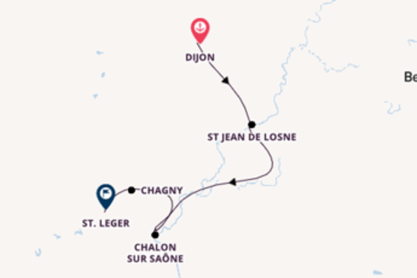 Charming Dijon to charming St. Leger