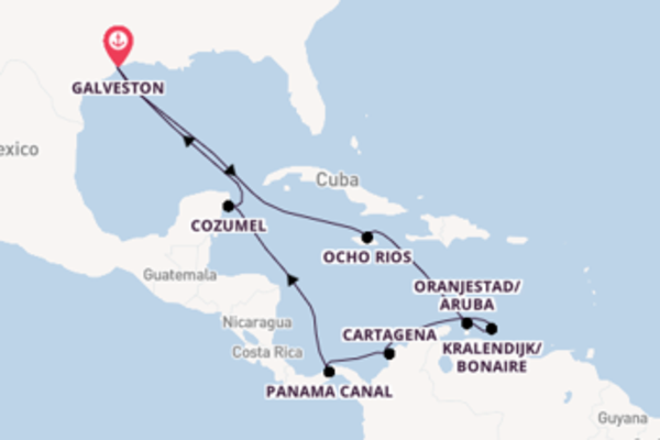 Trip with Carnival Cruise Lines from Galveston