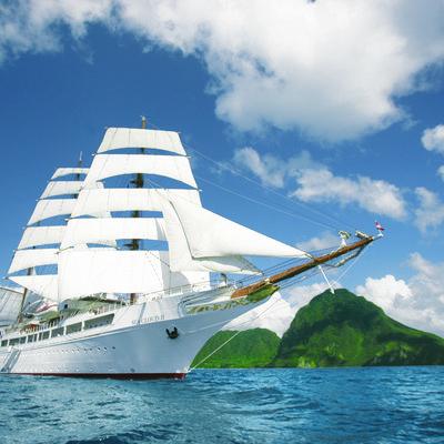 Ontspannen de oceaan over naar Barbados