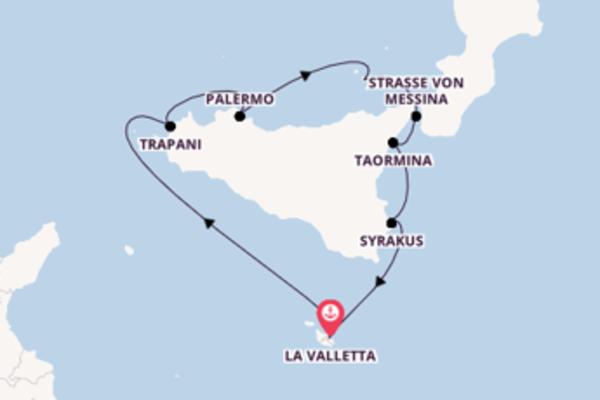 8-tägige Kreuzfahrt bis La Valletta