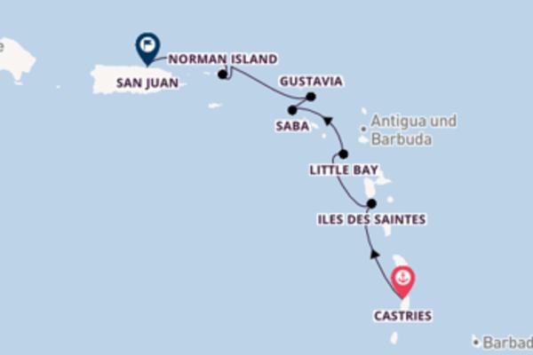 Von Castries über Gustavia in 8 Tagen
