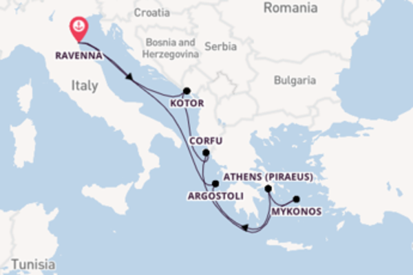 8 day cruise with the Brilliance of the Seas to Ravenna