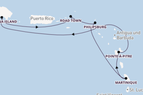 8-tägige Kreuzfahrt bis La Romana