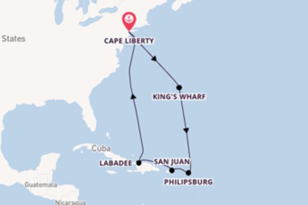 Crociera di 10 giorni a bordo di Adventure of the Seas