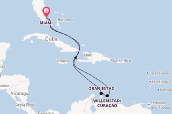 Crociera da Miami verso Oranjestad