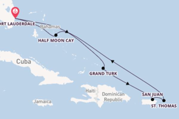 Cruise met Holland America Line naar Half Moon Cay
