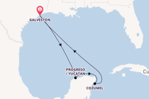 Sailing from Galveston via Progreso / Yucatan