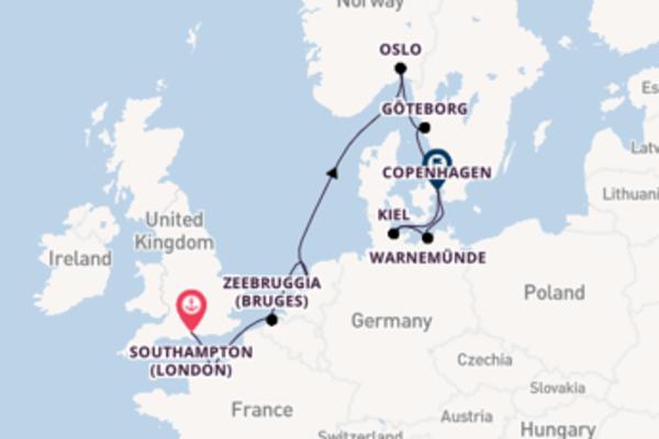 Da Southampton (London) a Copenhagen in 12 giorni