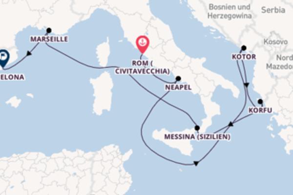 Rom (Civitavecchia) und Korfu genießen