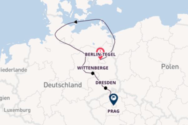 Von Berlin bis Prag auf Elbe und Moldau