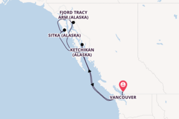 Visitez à bord du bateau Noordam, la destination: Sitka (Alaska)