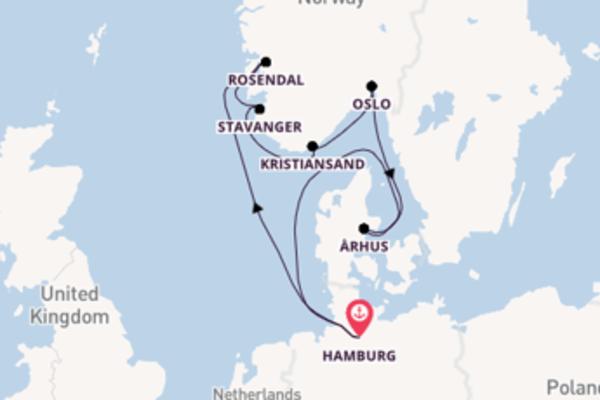 10daagse cruise met de AIDAsol vanuit Hamburg