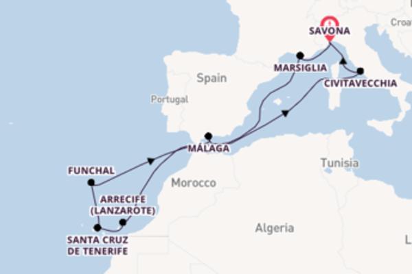 A bordo di Costa Favolosa da Savona