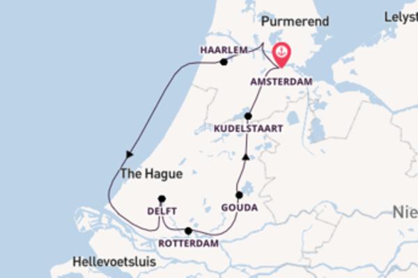 Mit Rad & Schiff durch das grüne Herz Hollands