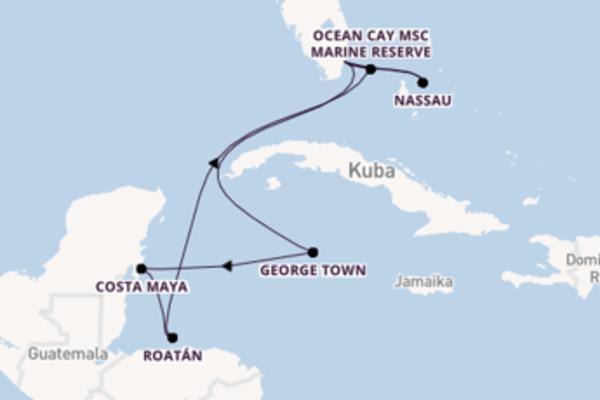 Herrliche Reise über Nassau in 11 Tagen
