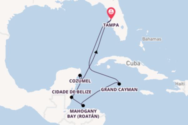 A bordo do Carnival Pride em um cruzeiro de 8 dias