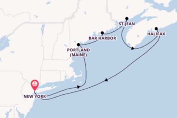 Halifax depuis New York pour une croisière de 8 jours