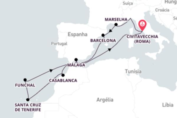 Espetacular viagem de 13 dias com a MSC Cruzeiros
