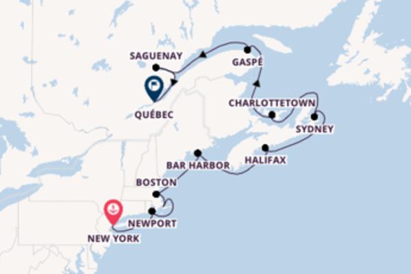 Einmalige Kreuzfahrt über Sydney nach Québec
