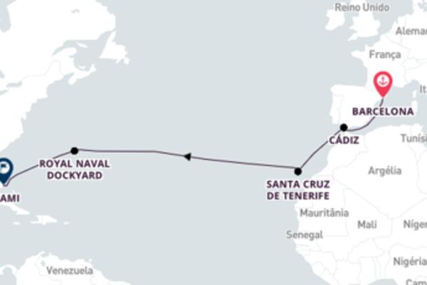 Navegue a bordo do Seven Seas Mariner em 15 dias