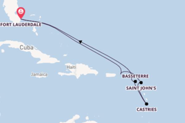 11 giorni verso Fort Lauderdale passando per Castries
