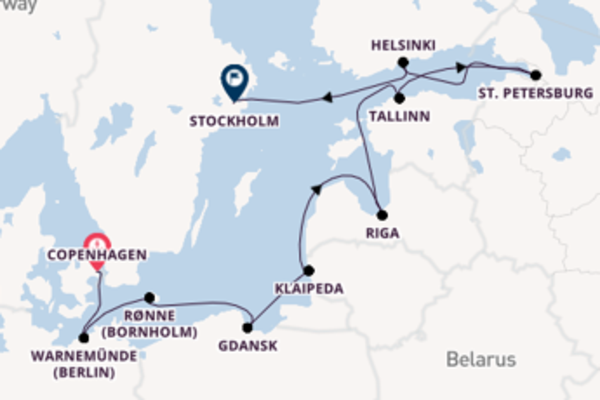 Journey with Oceania Cruises from Copenhagen to Stockholm