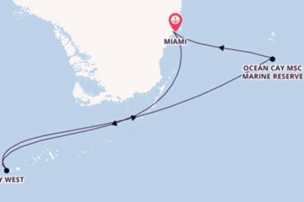 In 5 Tagen nach Miami über Key West