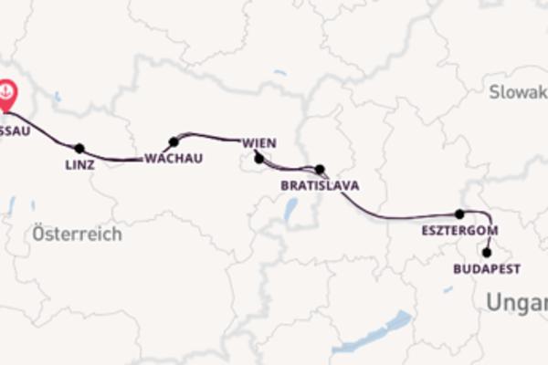 """12-Tage Kreuzfahrt """"Weihnachten und Silvester"""" auf der Donau"""
