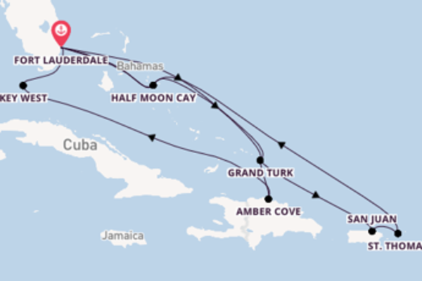 Cruise naar Fort Lauderdale via Half Moon Cay
