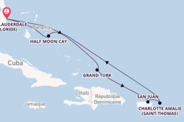 8 jours pour découvrir Grand Turk au départ de Fort Lauderdale