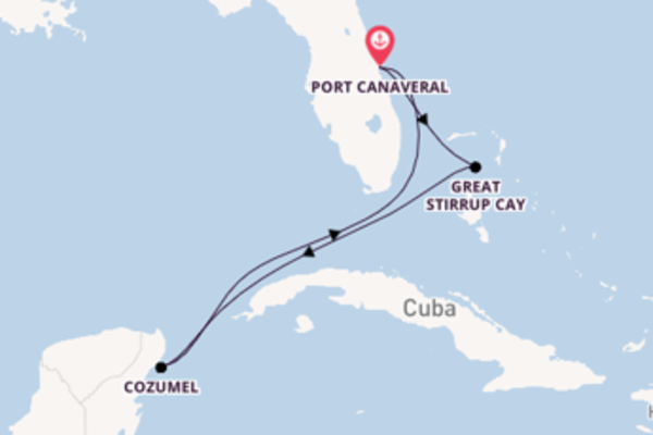 Cruising from Port Canaveral via Cozumel