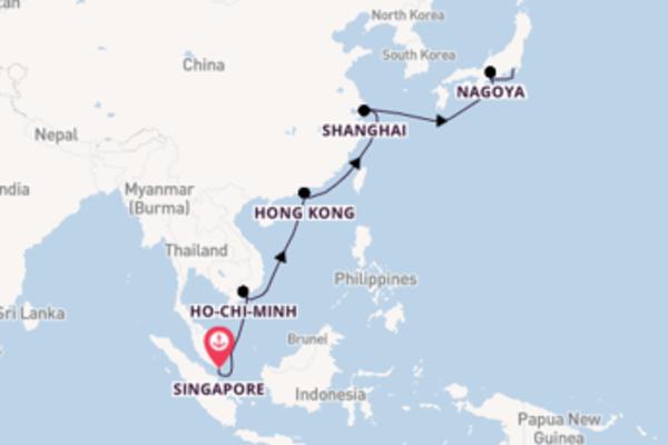 Da Singapore a Yokohama (Tokyo) in 17 giorni