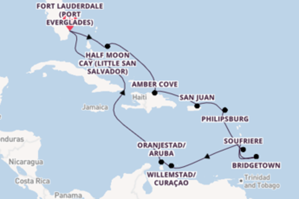 Trip with Holland America Line  from Fort Lauderdale (Port Everglades)