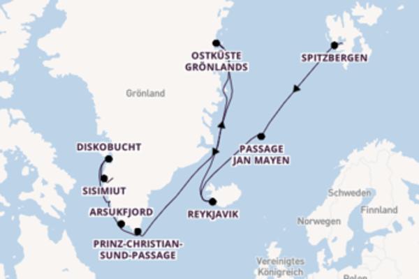 Ab Longyearbyen nach Kangerlussuaq