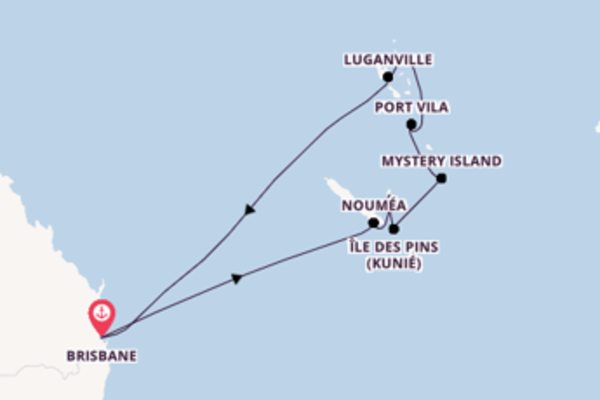 Mystery Island et une splendide croisière depuis Brisbane
