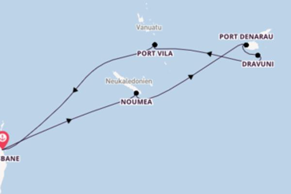 Zauberhafte Kreuzfahrt über Dravuni nach Brisbane