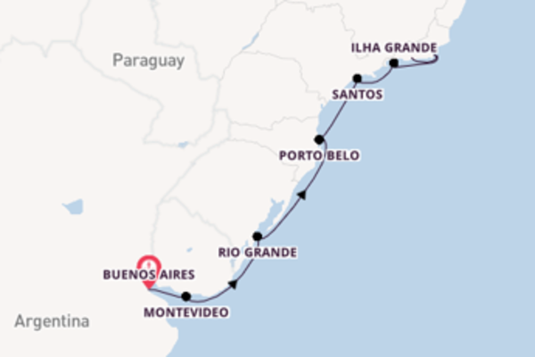 Sailing from Buenos Aires with the Seven Seas Voyager