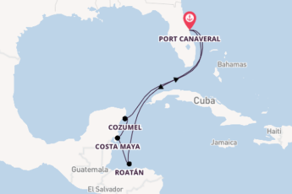 Magnificent cruise from Port Canaveral with Carnival Cruise Lines