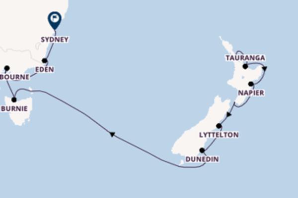 In rotta verso Sydney da Auckland