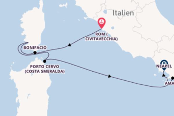 Großartige Kreuzfahrt von Rom (Civitavecchia) nach Neapel