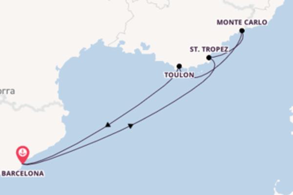 Jornada de 7 dias até Barcelona com o Azamara Journey