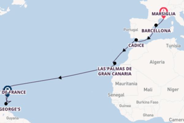 A bordo di MSC Seaview fino a Fort de France