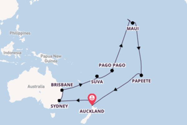 Trip with Princess Cruises from Auckland, New Zealand