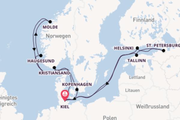 Von Kiel über Kopenhagen in 15 Tagen