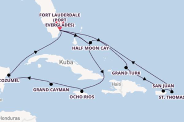 In 15 Tagen nach Fort Lauderdale über Ocho Rios