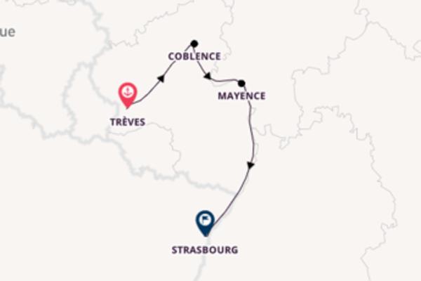 5 jours d'aventure de Trèves à Strasbourg avec MS Monet