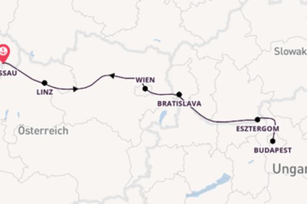In 6 Tagen nach Passau über Bratislava