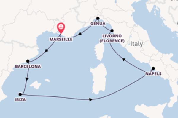 Ga mee op het MSC Seaside naar Marseille