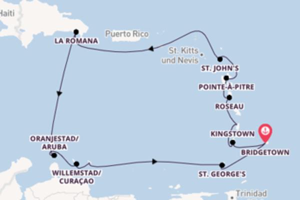 Großartige Reise über Castries in 15 Tagen