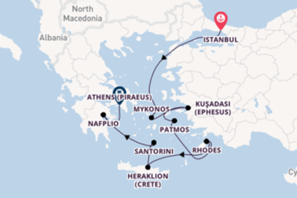 Picturesque Istanbul to picturesque Athens (Piraeus)